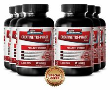Creatine Tablets - Creatine Tri-Phase 5000 mg - Increased Muscle Levels 6B