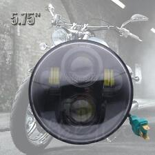 """Motorcycle 5-3/4"""" 5.75"""" LED Daymaker Projector Hi/Lo Headlight 40W For Harley"""