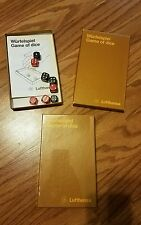 "Lot of 2 1970s Wurfelspiel German  LUFTHANSA AIRLINES--""GAME OF DICE""  1 is NE"
