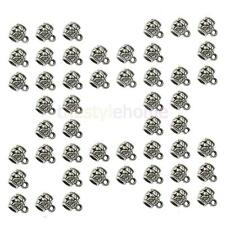 50pcs Tibetan Silver Bail Spacer Charm Beads Findings Fit European Bracelet