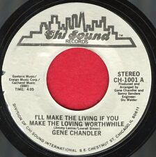 """GENE CHANDLER """"I'll Make The Living.. / Time Is A Thief"""" Chi Sound 1001 EX Soul"""