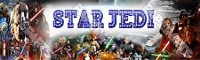 "Star Wars Poster Banner 30"" x 8.5"" Personalized Custom Name Printing for Kids"