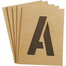 "FULL SET OF HEAVY DUTY 4"" NUMBER AND LETTER STENCILS -"