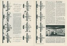 1949 Lockheed Constellation Ad World's Most Reordered Aircraft Airlines Travel