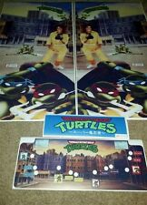 Tmnt arcade side art cpo and marquee
