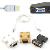 New HDMI Female to VGA Male HD Adapter with 3Ft 3.5mm Stereo Cable Free Shipping