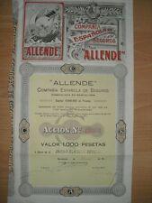 Compania Espanola de Seguros Allende  1918 Barcelona  DEKO