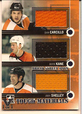 CARCILLO, KANE, SHELLEY IN THE GAME ITG FINAL VAULT TRIPLE GAME USED JERSEY 1/1