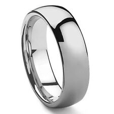 Custom Engraved Domed Tungsten Ring Wedding Band US Size 4-18