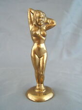 Vintage Brass Nude Lady Figural Bottle Opener
