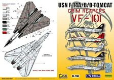 DXM decal 1/72 USN F-14A/B/D VF-101 Grim Reapers