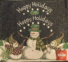 NWT Set Of 2 Christmas Holiday Snowman Tapestry Table Placemats 13 X 19 Inch