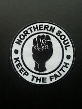 NORTHERN SOUL MUSIC SEW ON / IRON ON PATCH:- NORTHERN SOUL (c) KEEP THE FAITH