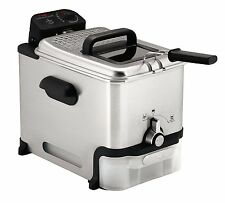 T-fal FR8000 Ultimate Clean Stainless Steel Immersion Deep Fryer, Silver