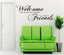 Wall Sticker Office Welcome Guest Friend Home Decor Room Decoration Modern Quote