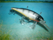 "DOLPHIN  NEW GREY WIDOW DEEP DIVER 4 "" WITH RATTLES / 2 T HOOKS ALL GAME LURE !"