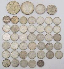 Misc Foreign Silver Coin Lot x44 Canada 10c, Panama Balboa, Australia Shilling