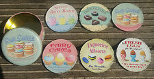 6 COFFEE BREAK COASTERS CUP CAKES MARTIN WISCOMBE TEA DRINK RETRO VINTAGE STYLE