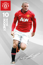 Wayne Rooney SIGNATURE Manchester United FC Goalkeeper Soccer Action POSTER