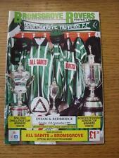 12/09/1995 Bromsgrove Rovers v Dagenham And Redbridge  (No apparent Faults)