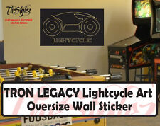 Tron Legacy Lightcycle Art Wall Vinyl Sticker