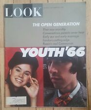 LOOK MAGAZINE SEPTEMBER 20 1966 EARLY SEX MARRIAGE OPEN GENERATION LANDON