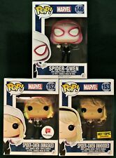 SPIDER-GWEN LOT OF 3 Funko Pop! Hot Topic, Walgreens Exclusives!