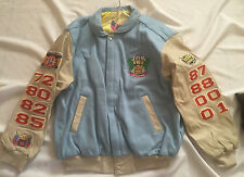 Lakers 2002 NBA Finals 3-Peat Baby Blue Leather Jeff Hamilton Jacket New tags! L