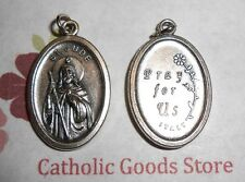 St Jude with Pray for Us on back -  Italian 1 inch Silver Tone Medal