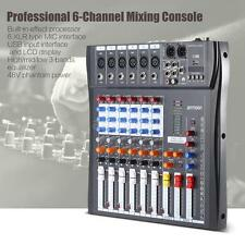 ammoon 6 Channel Mic Audio Mixer Mixing Console 3-band EQ USB XLR US Plug H2W1
