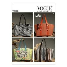 VOGUE ACCESSORIES SEWING PATTERN MISSES' TAFA BAGS OSZ  V9178