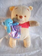 *1701c*  Winnie the Pooh with teddy bear - Fisher-Price - plush - rattles - 25cm