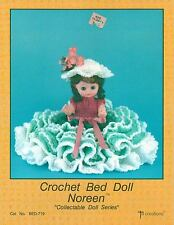 """USED NOREEN 13 1/2"""" BED DOLL DRESS CROCHET PATTERN BOOK / LEAFLET"""
