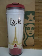 BRAND NEW MINT STARBUCKS COFFEE PARIS PLASTIC TUMBLER TRAVEL MUG CUP