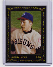 1967 Johnny Bench, catcher Buffalo Bisons - minor league player of the year