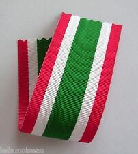 ITALIE: Ruban NEUF 14 cm x 37 mm pour la médaille militaire de l'Unité Italienne