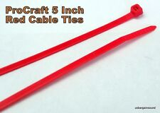 """200 Pcs. ProCraft 5"""" Red Nylon Cable Ties 18# T.S.(Model PCT-5RED-18-2X)"""