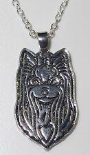 Yorkshire terrier Hund dog Halskette Kette necklace SJR1-mit Box