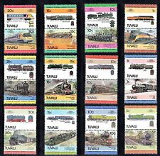 TRAIN RAILWAY Collection TUVALU 48 STAMPS Unmounted MINT Ref:TH562J
