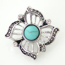 Turquoise Snap Stone Interchangeable Button Jewelry 18mm Fits Ginger Snaps