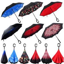 Double Layer Upside Down Inverted Umbrella Reverse Design Umbrella Windproof