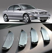 4X NEW ROYAL PREMIUM CHROME Door Handle Cups Scoops Inserts for JAGUAR X TYPE