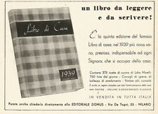 W2641 Libro di Casa - Editoriale Domus - Pubblicità del 1938 - Old advertising