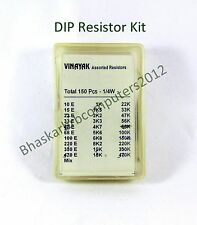 150 numbers Assorted Mixed Carbon film  Resistors lot 5% 0.25W Resistor kit