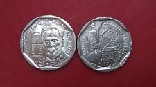 FRANCE PIECE DE 2 DEUX TWO  FRANCS NICKEL 1995 - COMMEMORATIVE LOUIS PASTEUR