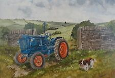 "Tractor Blank greeting card -Fordson Major Model E27N ""Fordson Major"""