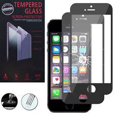 2X Panzerglas für Apple iPhone 5/ 5S/ SE Echtglas Display Schutzfolie SCHWARZ