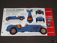 1931-1934 ALFA ROMEO 8C 2300 (1932) SPEC SHEET BROCHURE PHOTO BOOKLET