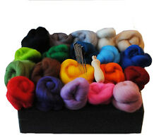 Heidifeathers® High Quality Needle Felting Starter Kit, Merino Wool + Handle