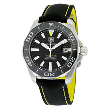 Tag Heuer Aquaracer Black Dial Textile Strap Automatic Mens Watch WAY211A.FC6362
